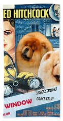 Chow Chow Art Canvas Print - Rear Window Movie Poster Beach Towel