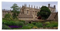 Christ Church In Spring Beach Towel by Rona Black