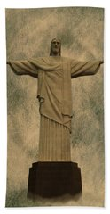 Christ The Redeemer Brazil Beach Towel