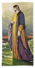 Christ Walking On Water Beach Towel