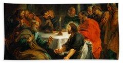 Christ Washing The Apostles Feet Beach Towel