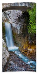 Christine Falls And Bridge Beach Towel