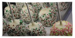 Christmas Candy Apples Beach Towel by Bill Owen