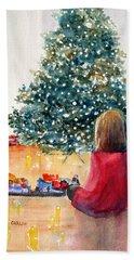 Christmas  Beach Sheet by Carlin Blahnik