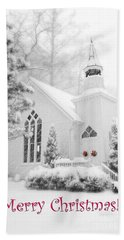 Historic Church Oella Maryland - Christmas Card Beach Sheet