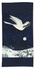 Christmas Dove Beach Towel