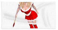 Christmas Elf Elise Beach Towel by Renate Janssen