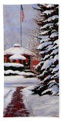 Christmas In Chagrin Falls Beach Towel