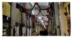 Christmas In Piccadilly Arcade Beach Sheet