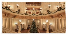 Christmas In The Rotunda Beach Towel
