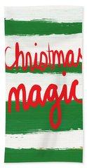 Christmas Magic - Greeting Card Beach Towel