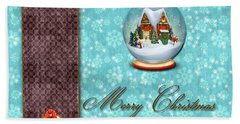 Christmas Card 13 Beach Towel