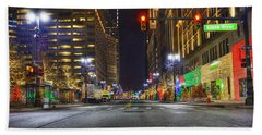 Christmas On Woodward Beach Towel by Nicholas  Grunas