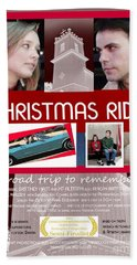 Christmas Ride Poster W Church Beach Towel