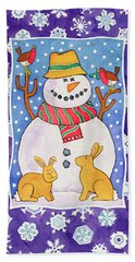Christmas Snowflakes Beach Towel