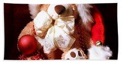 Christmas Teddy Beach Towel