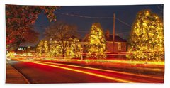 Beach Towel featuring the photograph Christmas Town Usa by Alex Grichenko