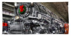 Christmas Train-the Holiday Station Beach Sheet