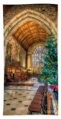 Christmas Tree Beach Sheet by Adrian Evans