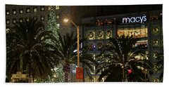 Christmas Tree At Union Square Beach Towel