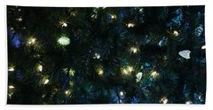 Christmas Tree Lights Beach Sheet
