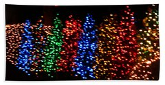 Beach Towel featuring the photograph Christmas Trees Dancing In The Night by Emmy Marie Vickers