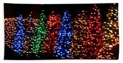 Christmas Trees Dancing In The Night Beach Sheet