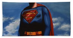 Christopher Reeve As Superman Beach Towel