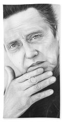 Christopher Walken Beach Towel by Olga Shvartsur