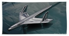 Chrome Airplane Hood Ornament Beach Towel