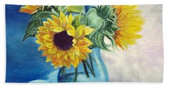 Chrysanthemums Beach Towel