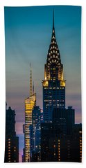 Chrysler Building At Sunset Beach Towel