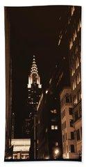 Chrysler Building Beach Sheet by Donna Blackhall