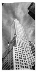 Chrysler Building Infrared Beach Towel