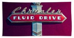 Chrysler Fluid Drive Emblem Beach Towel