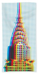 Chrysler Pop Art Beach Towel