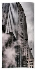 Chrysler Building With Gargoyles And Steam Beach Towel