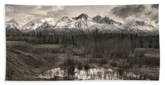 Chugach Mountain Range Beach Towel