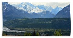 Chugach Mountains Beach Sheet by Andrew Matwijec