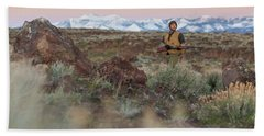 Chukar Hunting In Nevada Beach Towel