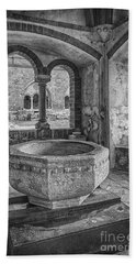 Church Christening Font Beach Sheet by Antony McAulay