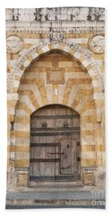 Church Door In Beirut Lebanon Beach Towel