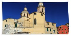 Beach Sheet featuring the photograph Church In Camogli by Antonio Scarpi
