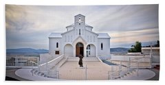 Church Of Croatian Martyrs In Udbina Beach Sheet by Brch Photography