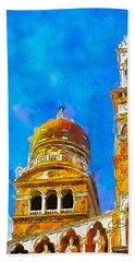 Beach Towel featuring the painting Church Of Madonna Dell'orto by Greg Collins