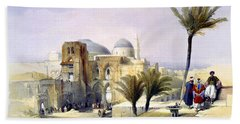 Church Of The Holy Sepulchre In Jerusalem Beach Sheet