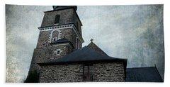 Church Saint Malo Beach Towel by Barbara Orenya