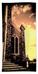 Church Vignette Against Sky Beach Towel