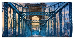 Cincinnati Suspension Bridge Beach Towel