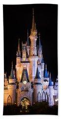 Cinderella's Castle In Magic Kingdom Beach Towel